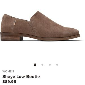 TOMS Shaye Low Booties Size 7